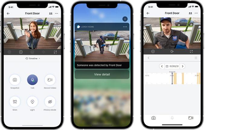 aperçu application mobile Android Apple Lorex Home