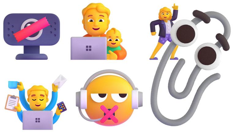aperçu mise à jour Microsoft nouveaux emojis 3D