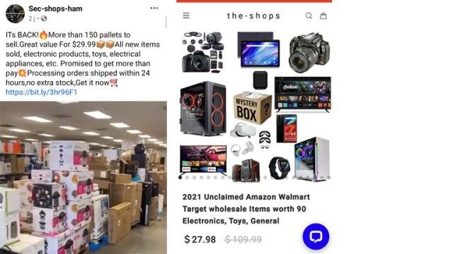 exemples publications frauduleuses boîtes non réclamées Amazon