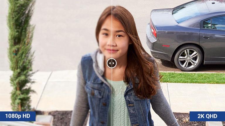 système sécurité sans fil Lorex caméra 2k bonne résolution