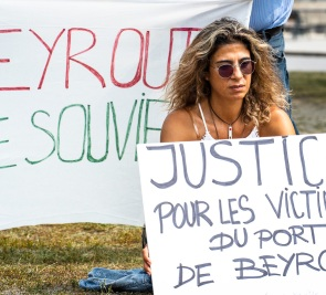 Beyrouth: les Libanais se rassemblent au Port de Montréal