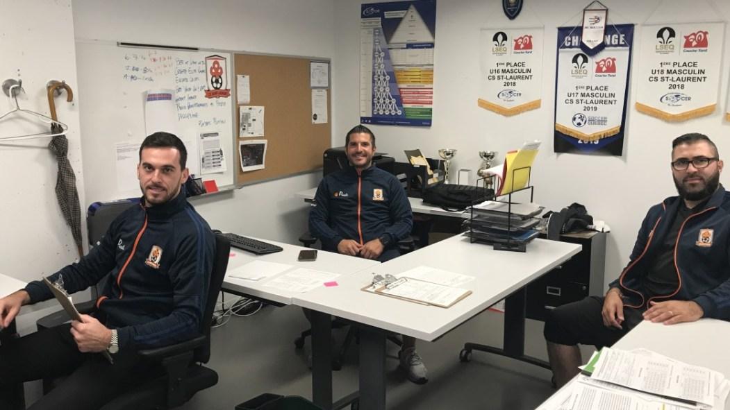 Trois hommes, directeurs CS Saint-Laurent PLSQ