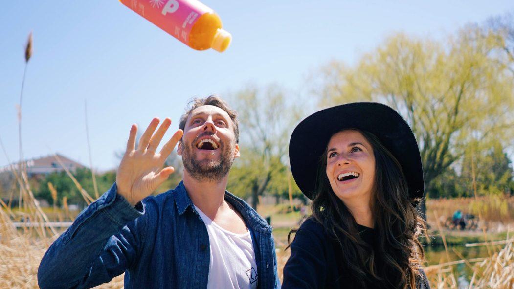 David Côté et Julie Poitras-Saulnier, fondateurs de Loop Mission