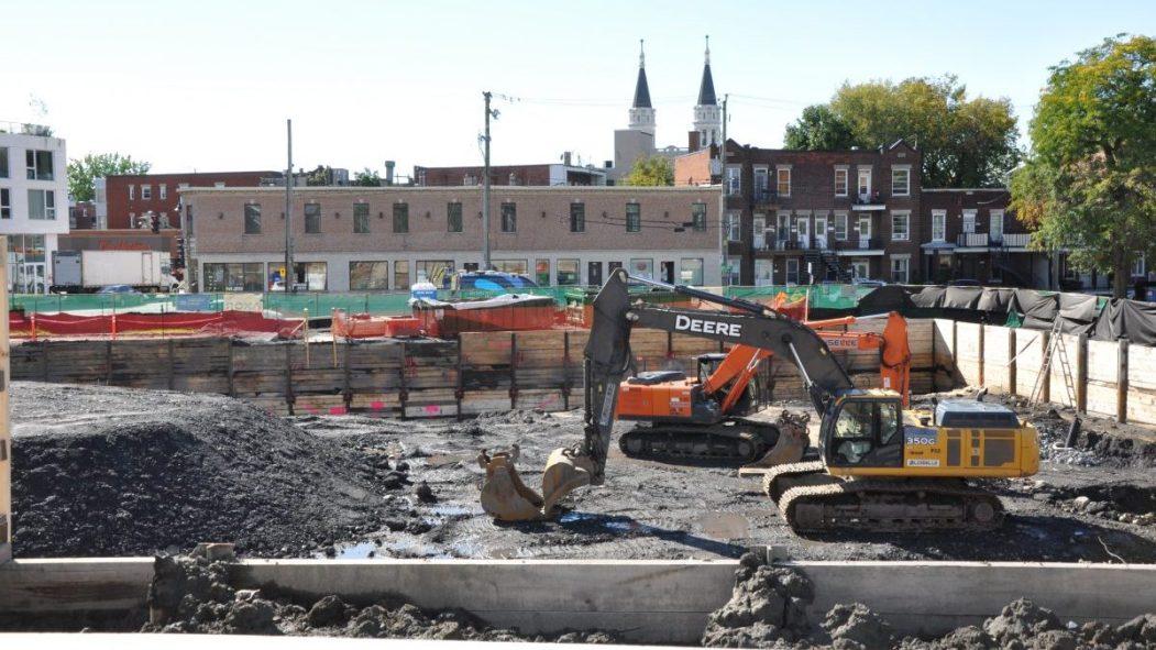 Le chantier d'excavation des travaux d'agrandissement de l'Hôpital de Verdun.