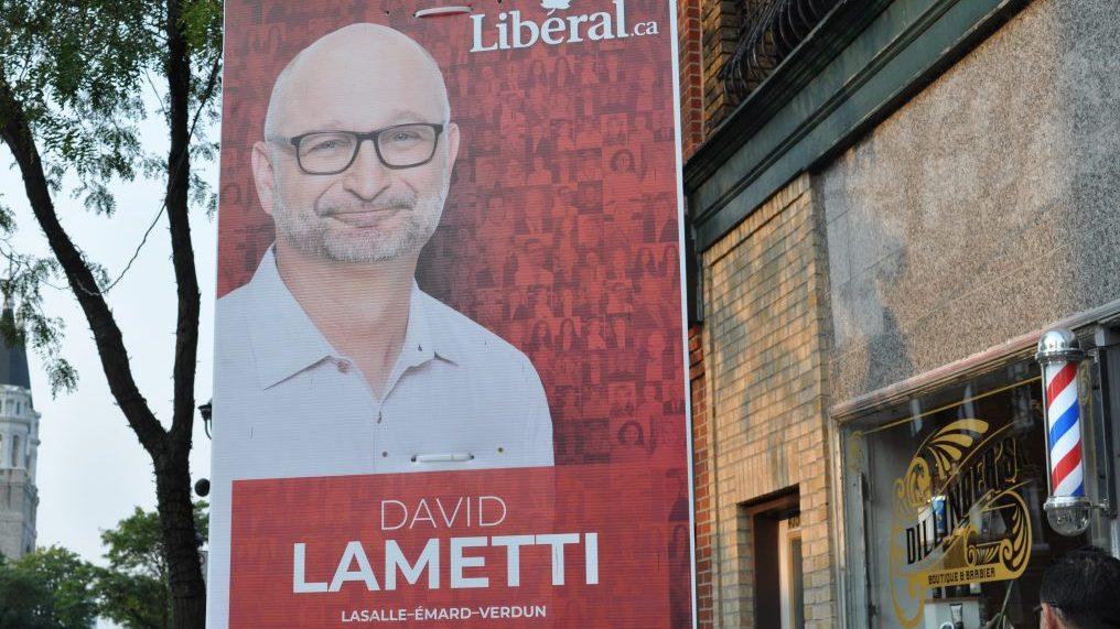 Pancarte électorale de David Lametti.