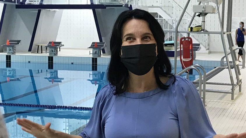 Valérie Plante à la piscine Henri-Bourassa