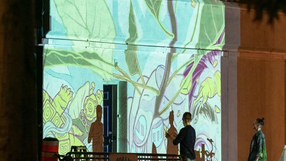 Oeuvre murale Saint Laurent