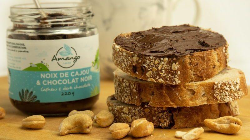 La nouvelle tartinade aux noix de cajou et au chocolat noir d'Amango Cacao.
