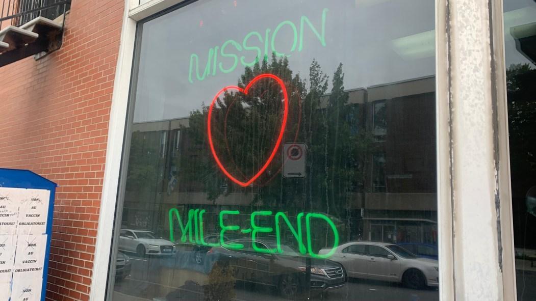 Devanture de l'organisme Mission Mile-End